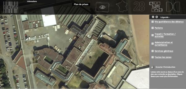 Plan d'une prison fictive